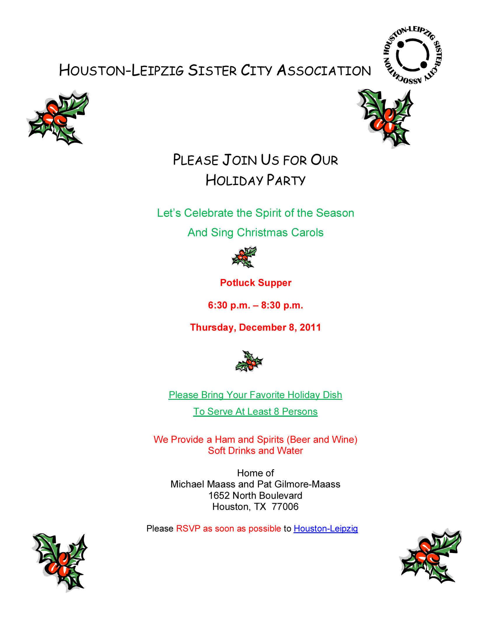 Copy of 2011 Holiday Party Invitation Website HoustonLeipzig