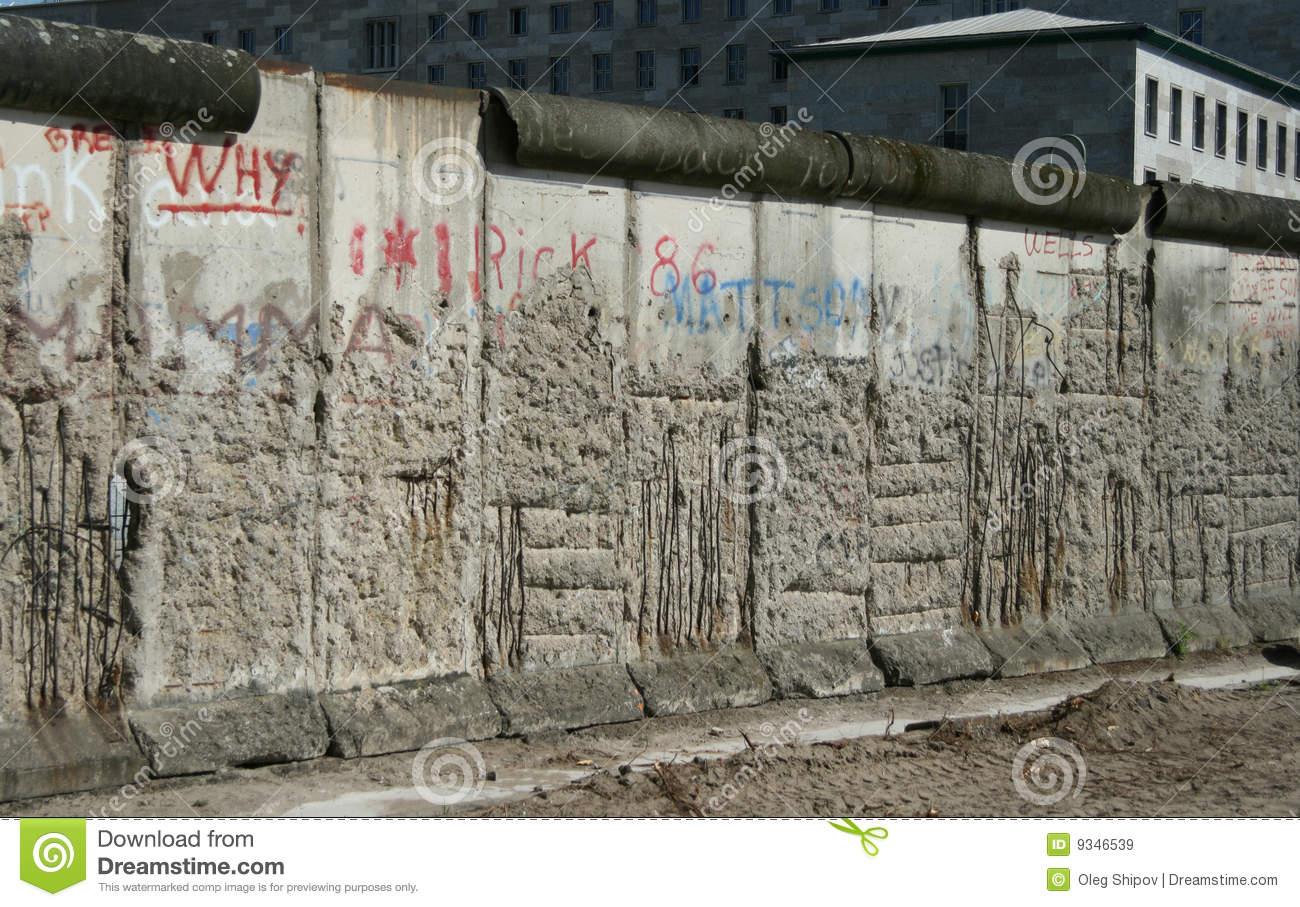 Berlin wall date in Australia